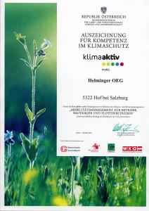 Klimaschutz Auszeichnung